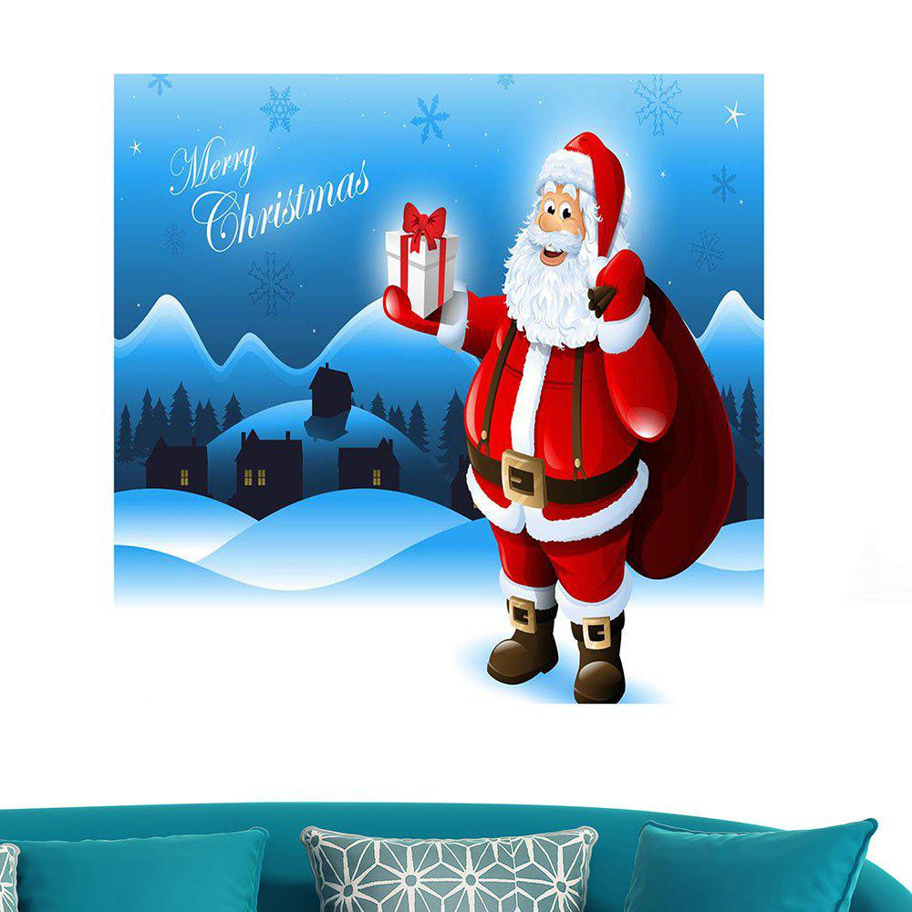 Outfit Removable Santa Claus Patterned Waterproof Wall Art Painting