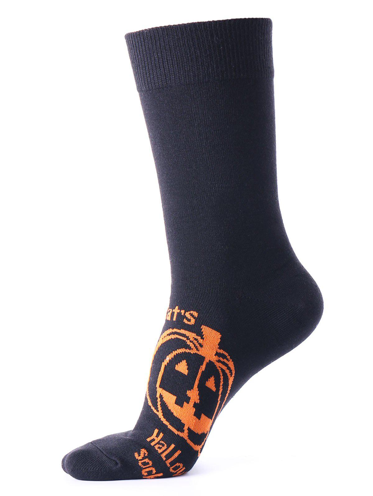 Discount Halloween Pumpkin Pattern Tube Socks