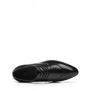 Embossing Lace Up Formal Shoes - Noir 40