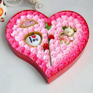 Valentine's Day Heart Shape Rose Flowers Nouveauté Gift Light -