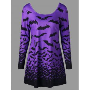 Halloween Bat Lace Up Top - Violet Clair XL