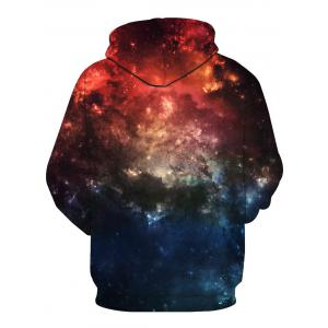 Long Sleeve 3D Galaxy Print Pullover Hoodie - COLORMIX M