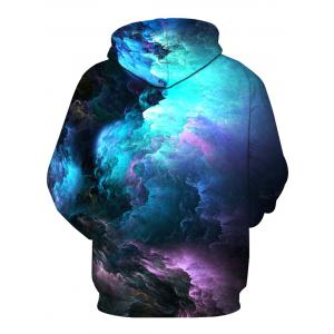 Colorful Clouds 3D Print Pullover Hoodie - COLORMIX M