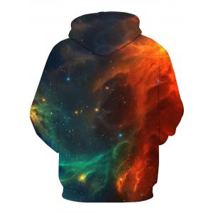 Ombre Galaxy 3D Print Pullover Hoodie - Multicolore L