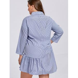 Robe à bout rayé taille taille taille dominante - Bleu 4XL