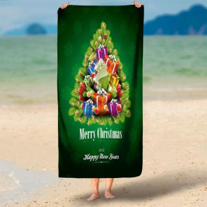 Water Absorption Christmas Gift Bath Towel -
