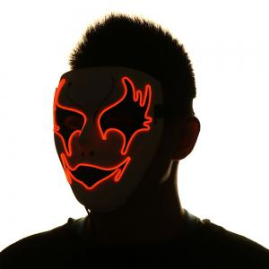 Masque Lumineux De Costume D'halloween De El Wire -