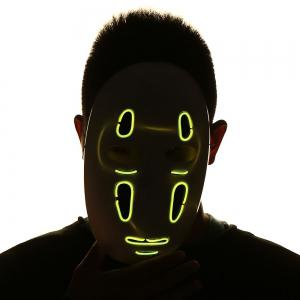 Halloween EL Wire LED Luminous Cosplay Weird Mask -