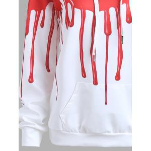 Blood Print Halloween Drawstring Hoodie -