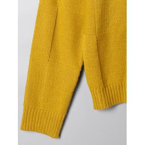 Two Tone Crew Neck Sweater - WHITE AND YELLOW M