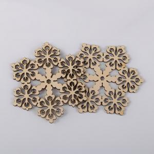 10 Pcs Christmas Decorations Snowflake Wooden Hanging -
