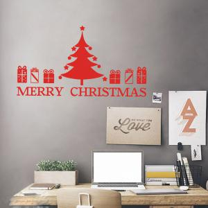 Christmas Tree Gift Pattern Wall Sticker For Bedrooms -
