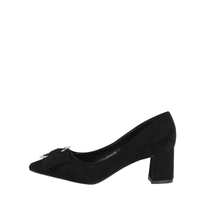 Pointed Toe Metal Buckle Strap Pumps - BLACK 37