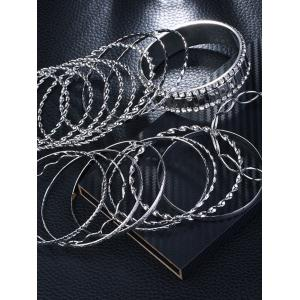 Ensemble de bracelets Bangle Rhinestoned Alloy Circle -