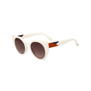 UV Protection Full Frame Design Butterfly Sunglasses - TEA-COLORED