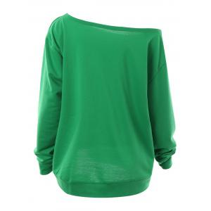 Plus Size Baby Its Cold Outside Letter Christmas Sweatshirt - GREEN 3XL