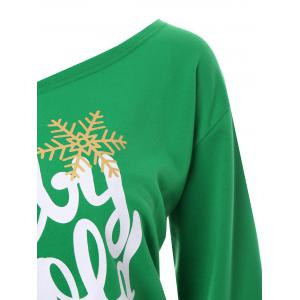 Plus Size Baby Its Cold Outside Letter Christmas Sweatshirt - GREEN 4XL