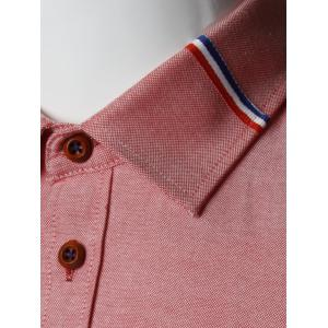 Stripe Detail Long Sleeve Shirt - WATERMELON RED 5XL