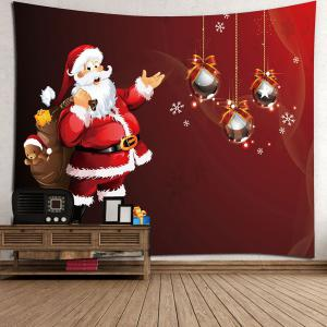 Santa Claus Gift Pattern Wall Art Tapestry - RED W59 INCH * L51 INCH