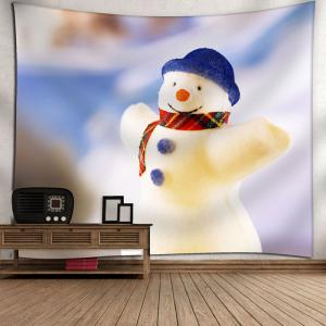 Wall Decor Snowman Christmas Tapestry - WHITE W79 INCH * L59 INCH