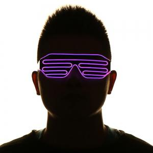 LED Flashing Shutter Party Glasses - RED