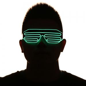 LED Flashing Shutter Party Glasses - GREEN