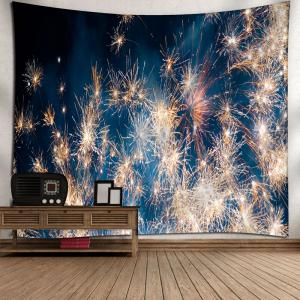 Christmas Fireworks Wall Decor Tapestry - BLUE W79 INCH * L59 INCH