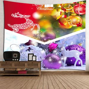 Wall Hanging Christmas Gift Ball Pattern Tapestry - COLORFUL W59 INCH * L51 INCH