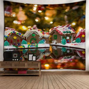 Wall Decor Christmas Chocolate House Tapestry - COLORMIX W79 INCH * L59 INCH