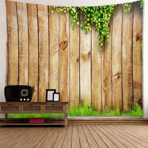 Wooden Cirrus Pattern Waterproof Wall Art Tapestry - WOOD W79 INCH * L71 INCH
