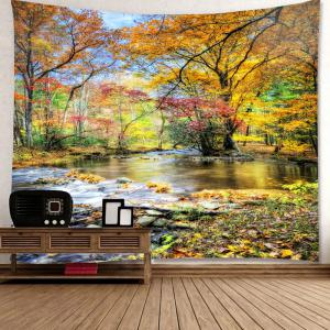 Waterproof Brook Grove Pattern Wall Hanging Tapestry - COLORFUL W59 INCH * L51 INCH
