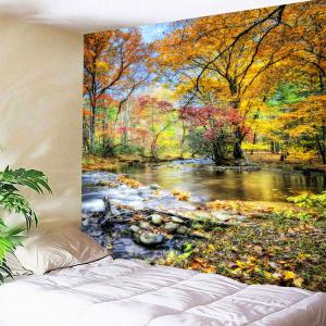 Waterproof Brook Grove Pattern Wall Hanging Tapestry - COLORFUL W79 INCH * L59 INCH