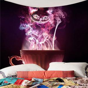 Halloween Cup Goblins Waterproof Hanging Tapestry - COLORFUL W91 INCH * L71 INCH
