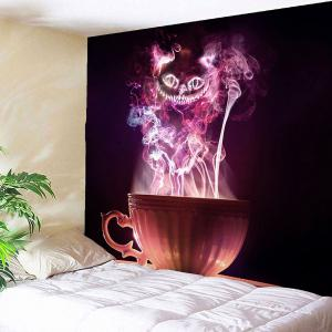 Halloween Cup Goblins Waterproof Hanging Tapestry - COLORFUL W71 INCH * L71 INCH