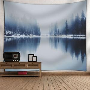 Wall Hanging Landscape Print Tapestry - GRAY W79 INCH * L71 INCH