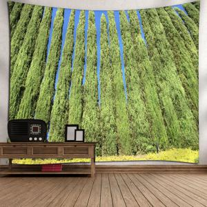 Wall Decor Tree Print Bedroom Tapestry - GREEN W71 INCH * L71 INCH