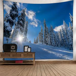 Wall Art Snowscape Pattern Tapestry - SKY BLUE W59 INCH * L51 INCH