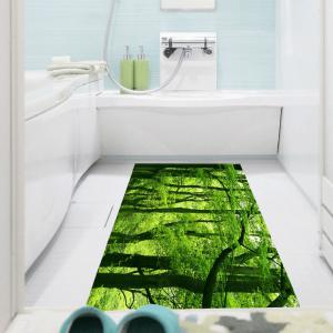 Multifunction Fresh Forest Waterproof Stick-on Wall Art Painting - GREEN 1PC:24*35 INCH( NO FRAME )