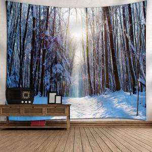 Wall Decor Snowscape Pattern Tapestry - WHITE W79 INCH * L71 INCH