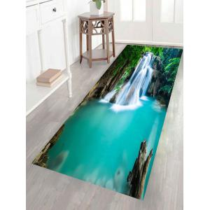 Multifunction Mountain Waterfall Patterned Removable Wall Art Painting - GREEN 1PC:24*35 INCH( NO FRAME )