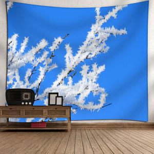 Snow Tree Branch Printed Wall Tapestry - BLUE W59 INCH * L51 INCH