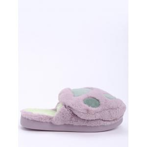 Color Block Faux Fur Slippers - PURPLE SIZE(36-37)