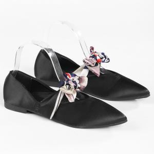 Slip On Bowknot Flat Shoes -