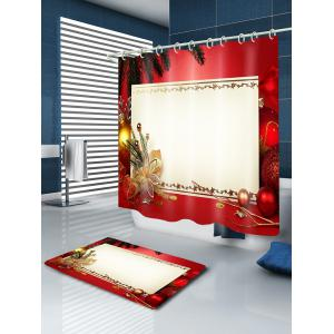 Christmas Decoration Print Fabric Waterproof Bathroom Shower Curtain -