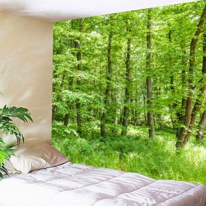 Waterproof Green Forest Pattern Wall Hanging Tapestry - GREEN W71 INCH * L71 INCH