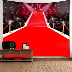 Red Carpet Stage Pattern Waterproof Wall Art Tapestry - RED W59 INCH * L59 INCH