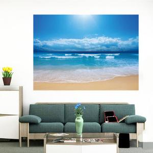 Seascape Beach Printed Multifunction Waterproof Wall Art Painting - CLOUDY 1PC:24*35 INCH( NO FRAME )