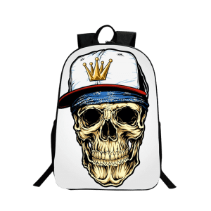 Zip Skull Backpack -