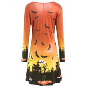 Robe de Halloween Swing - Tangerine XL