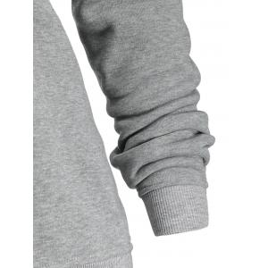 Drawstring Plus Size Side Zipper Hoodie -